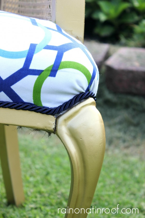Jonathan Adler Inspired Chair Makeover {rainonatinroof.com} #chairmakeover #jonathanadler