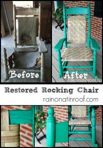 Rocking Chair Restoration {rainonatinroof.com} #rockingchair
