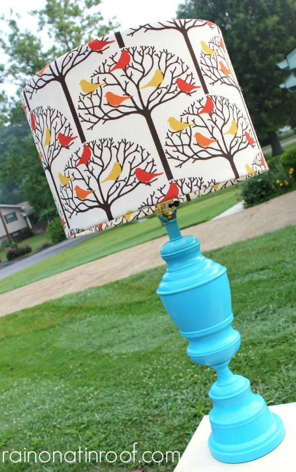 Aqua Lamp Makeover {rainonatinroof.com} #aqua #lamp
