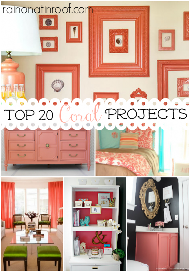 Top 20 Coral Projects & Ideas {rainonatinroof.com} #coral #diy #project #idea