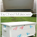 Toy Chest Makeover {rainonatinroof.com}