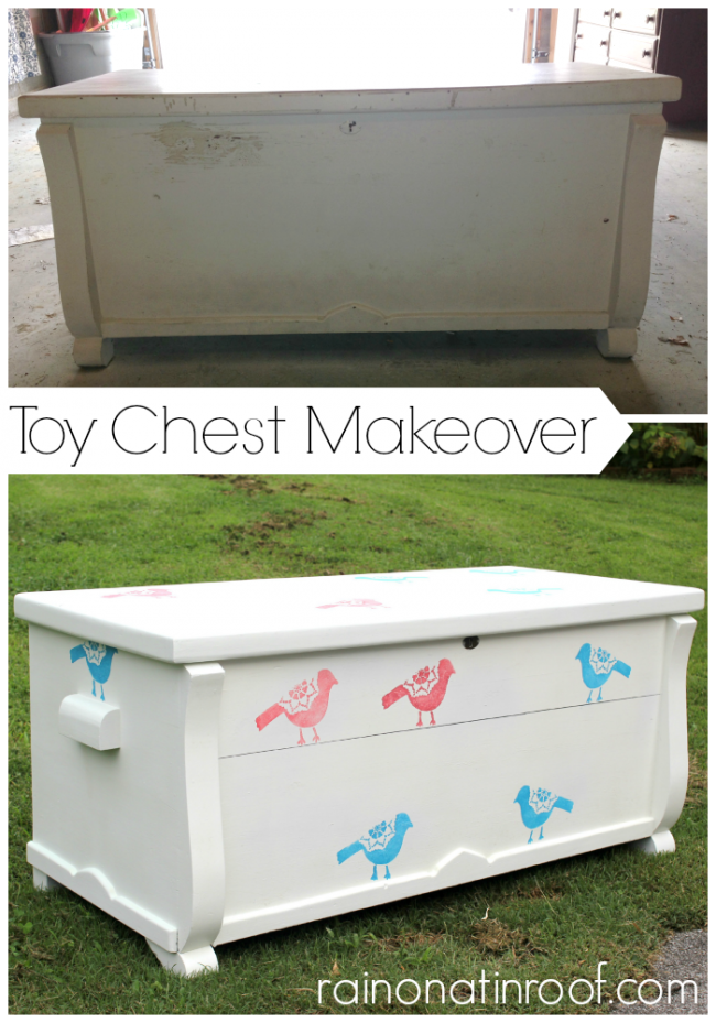 Simple Toy Chest Makeover