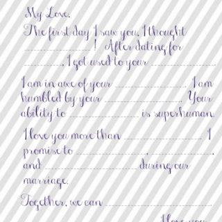 Wedding Vow Mad Libs Printable