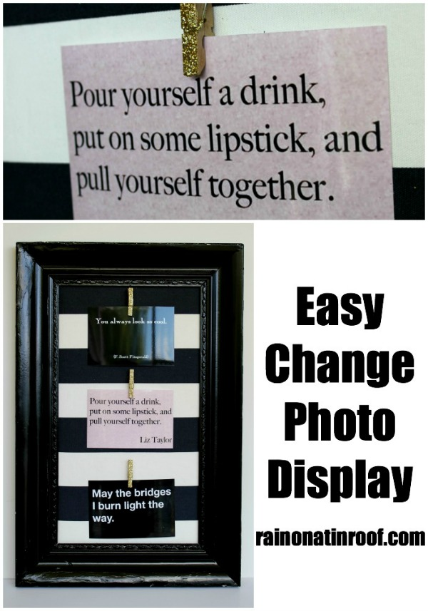 Easy Change Photo Display {rainonatinroof.com} #photo #display
