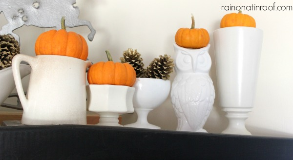 Fall Decorating with Vintage Pieces {Fall Decor Link-Up}