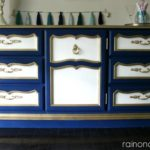 Dresser turned Buffet {rainonatinroof.com} #furnituremakeover #diy