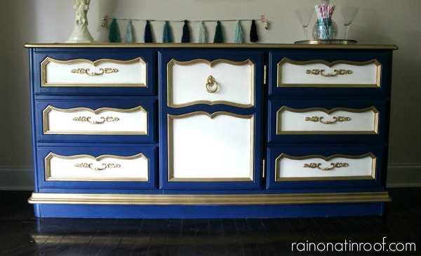 Yard Sale Dresser Turned Stylish Buffet