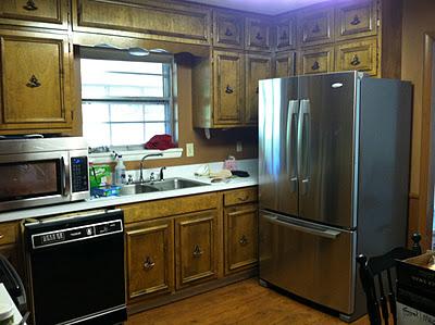 Kitchen Renovation {rainonatinroof.com}