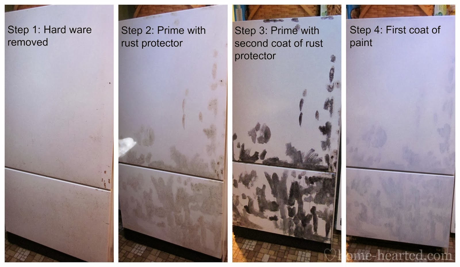 How to Paint a Fridge