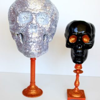 Dollar Tree Skulls Upcycle
