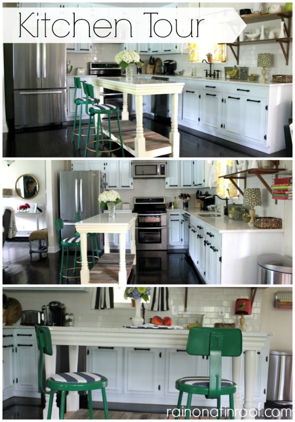 Kitchen Tour {rainonatinroof.com}