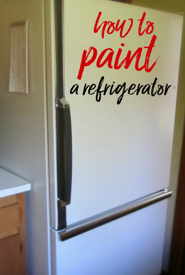 DIY Refrigerator Paint Job