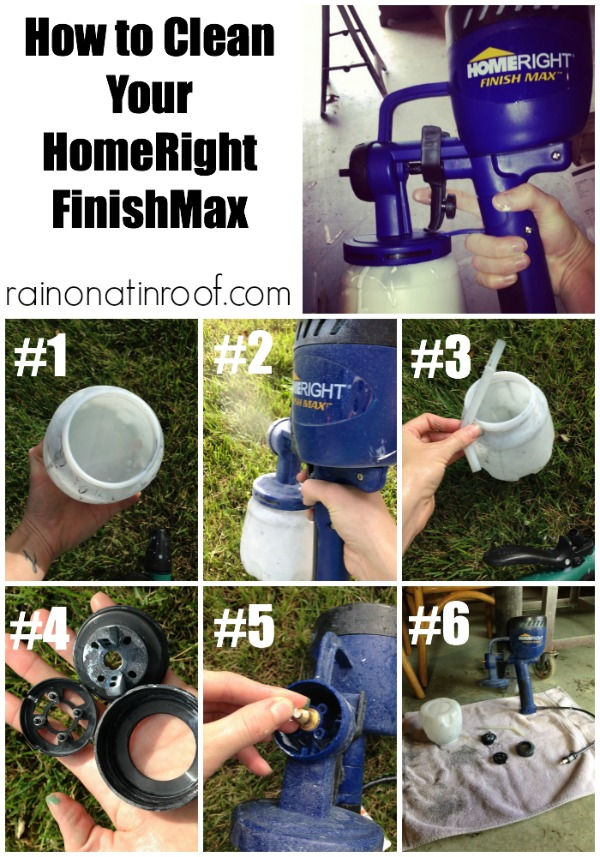 How to Clean the HomeRight Finish Max Paint Sprayer via rainonatinroof.com #homeright #finishmax #paintsprayer