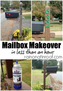 Mailbox Makeover in less than an hour