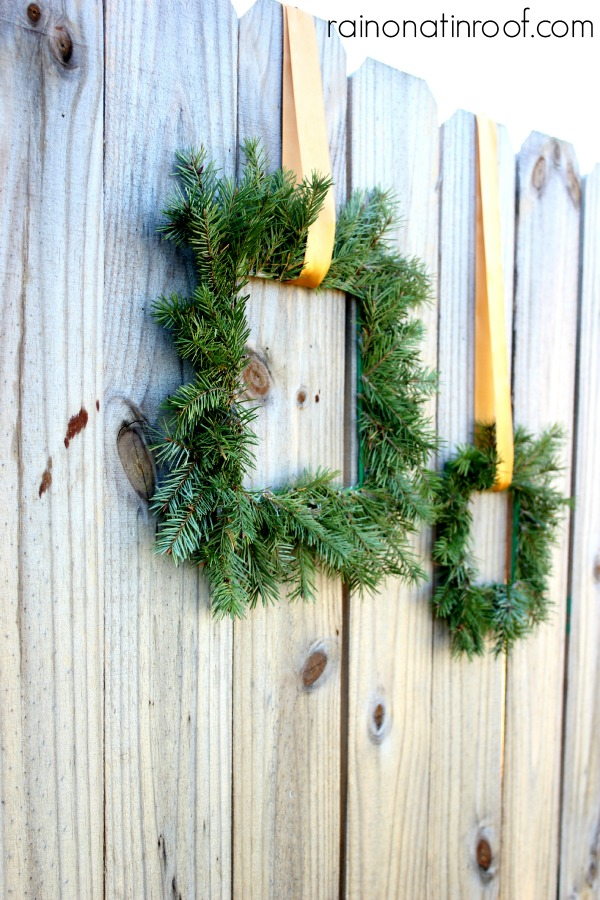 Wreaths made from Paint Sticks