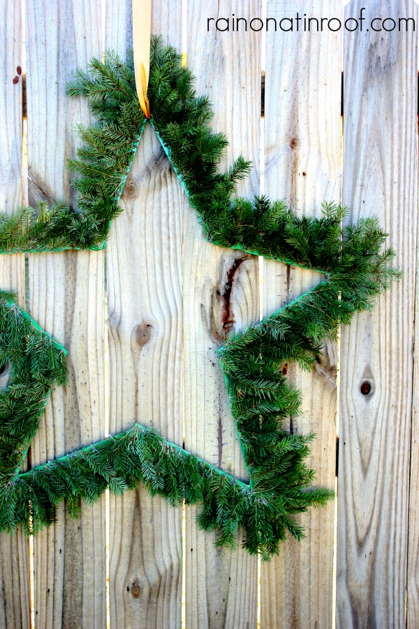 How to Make an Evergreen Star Shaped Wreath