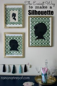 How to Make a Silhouette the easy way {according to me}