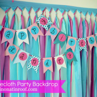 Party Background Tutorial with tablecloths for $5 (and it's easy!)