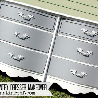 French Country Dresser Makeover {DIY Chalk Paint}