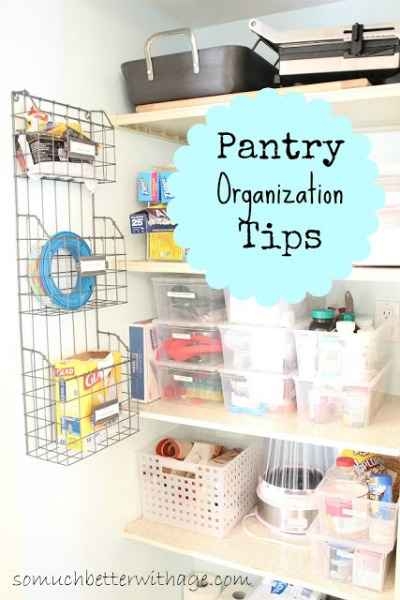 Pantry Organization Tips - organization tips for your entire home.