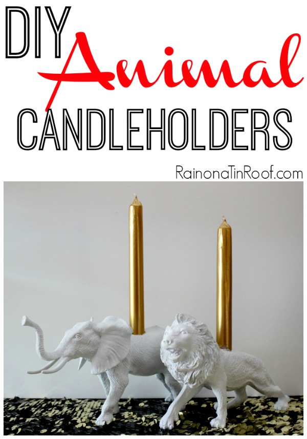 DIY Animal Candleholders via RainonaTinRoof.com
