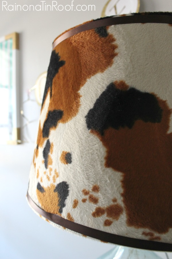 Easy to Make DIY Cowhide Lamp Shade for $15