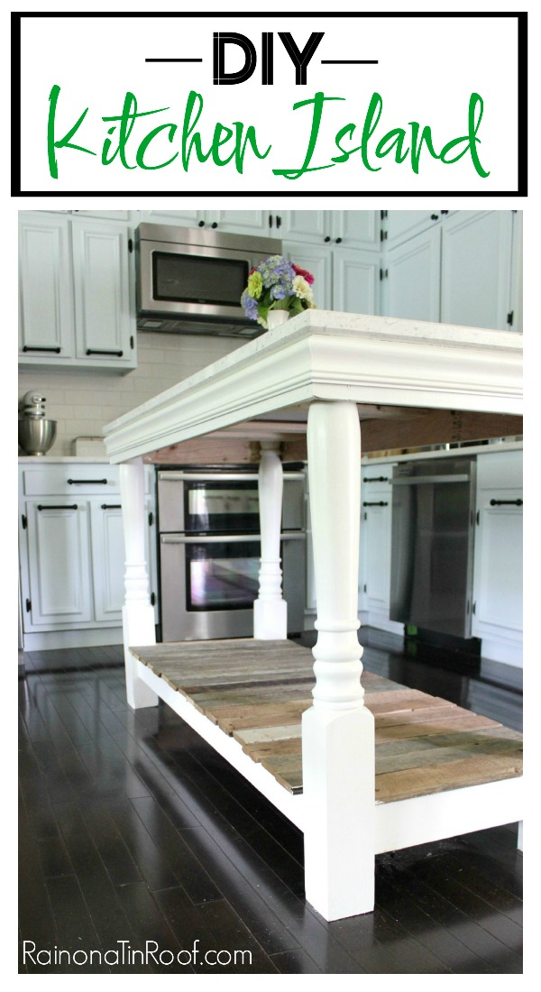 DIY Kitchen Island / Kitchen Island Ideas, Rustic Kitchen Island