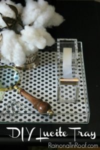 DIY Lucite Trays {Under $5 in 15 minutes} via RainonaTinRoof.com