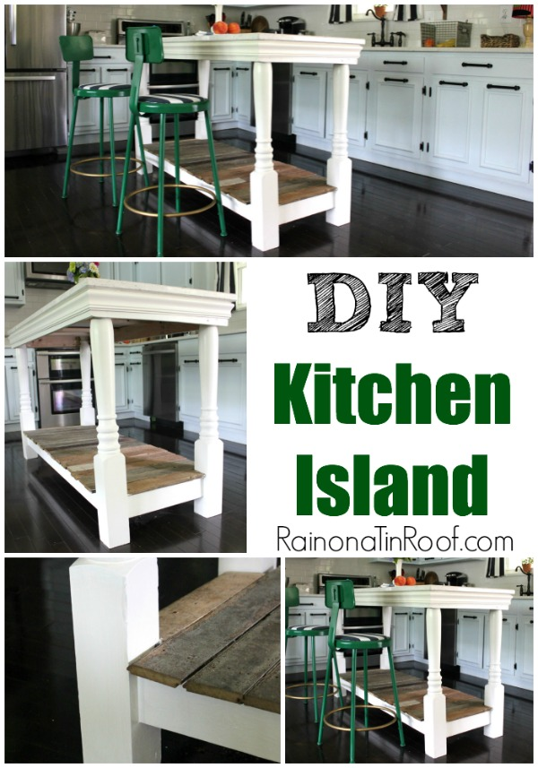 How We Built the Kitchen Island via RainonaTinRoof.com