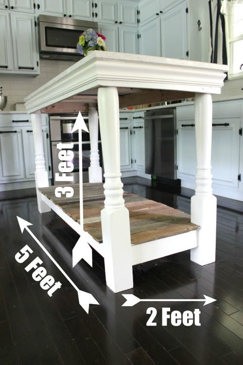 DIY Kitchen Island via RainonaTinRoof.com #kitchenisland #diy