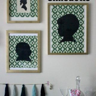 DIY Silhouette - easy way to make a silhouette.