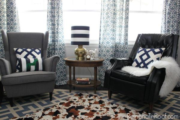 vintage modern rustic living room via rainonatinroofcom vintage modern rustic