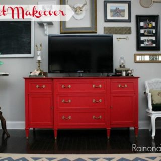 Red Buffet Makeover
