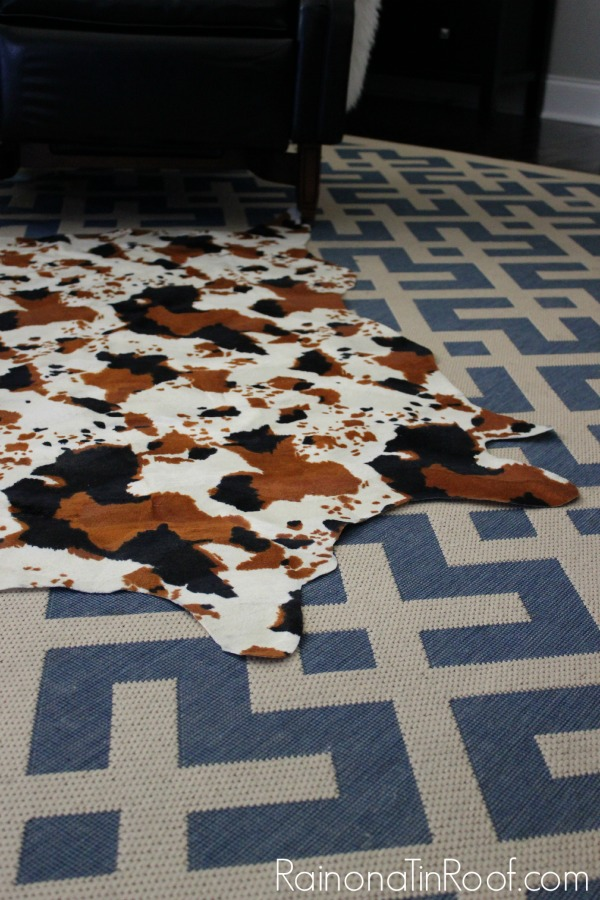 Diy Faux Cowhide Rug For Only 15