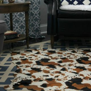 DIY Cowhide Rug for only $15 and no painting required