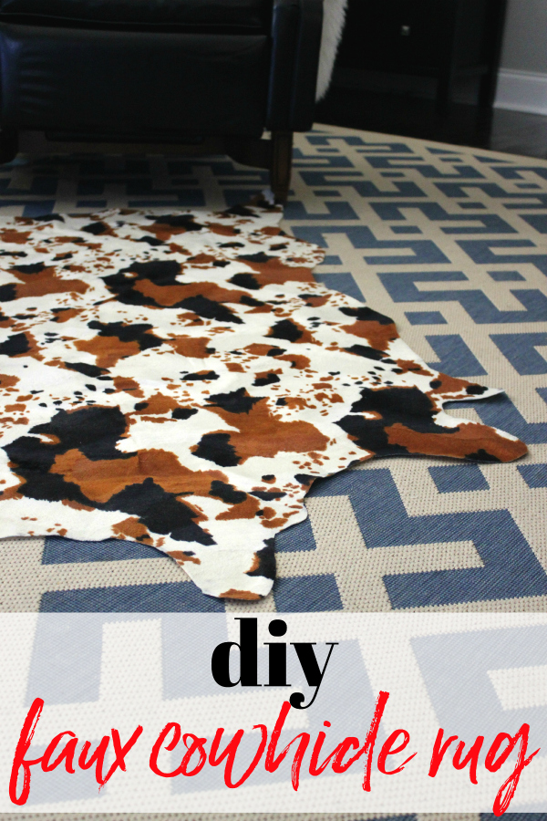 Faux Cowhide Rug DIY using Faux Cowhide