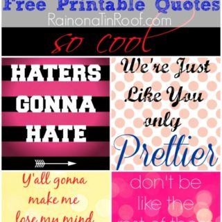 Free Printable Quotes (Sassy, Witty, and Fun!) via RainonaTinRoof.com #printable #quotes