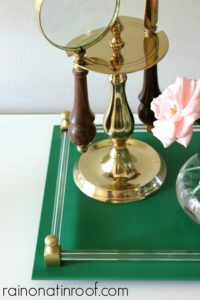 Green Tray Makeover