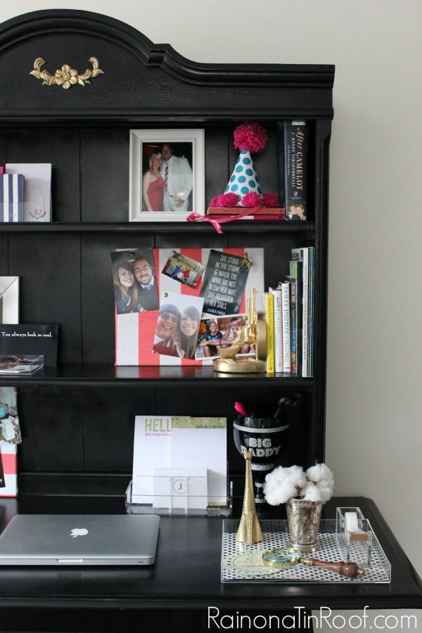 How to Build a Desk (Using Furniture You Already Have) via RainonaTinRoof.com #desk #diy #furnituremakeover