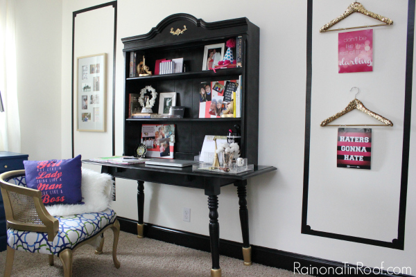 How to Build a Desk (Using Furniture You Already Have) via RainonaTinRoof.com #desk #diy #furnituremakeover