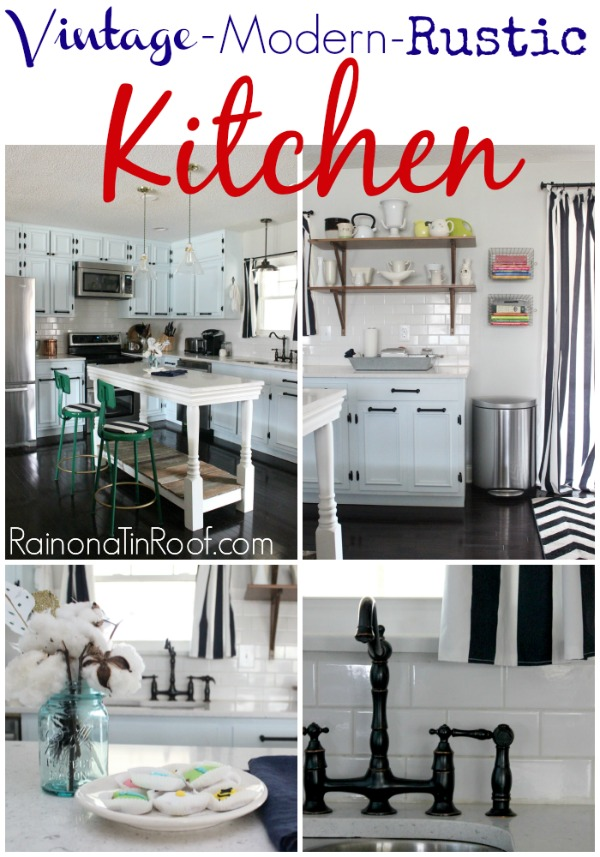 Vintage Modern Rustic Kitchen Via Rainonatinroof