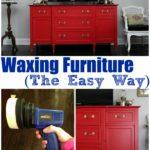 Waxing Furniture (The Easy Way) via RainonaTinRoof.com #waxing #furnituremakeover #homeright