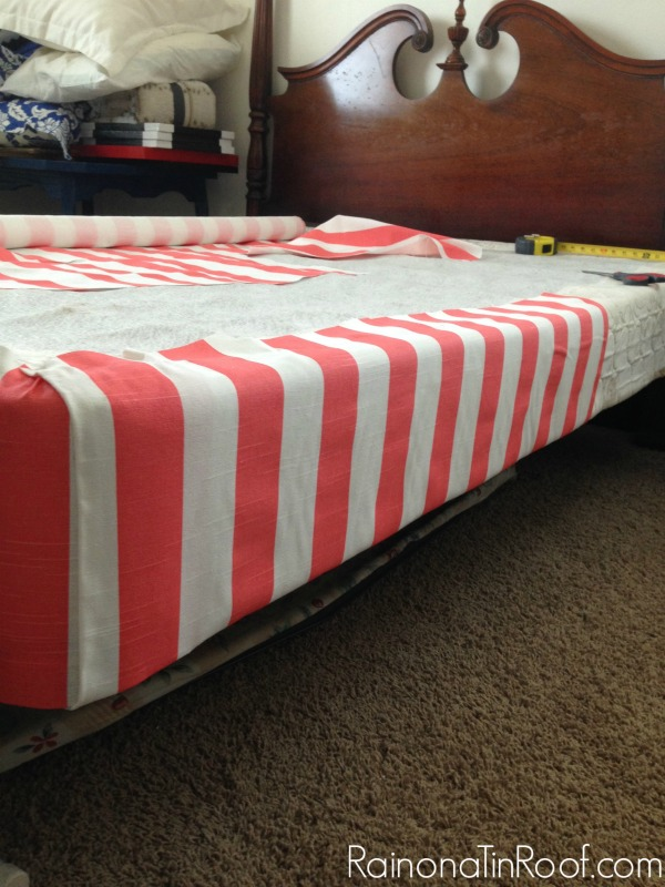 No Sew Upholstered Box Spring Via Rainonatinroof Boxspring Nosew