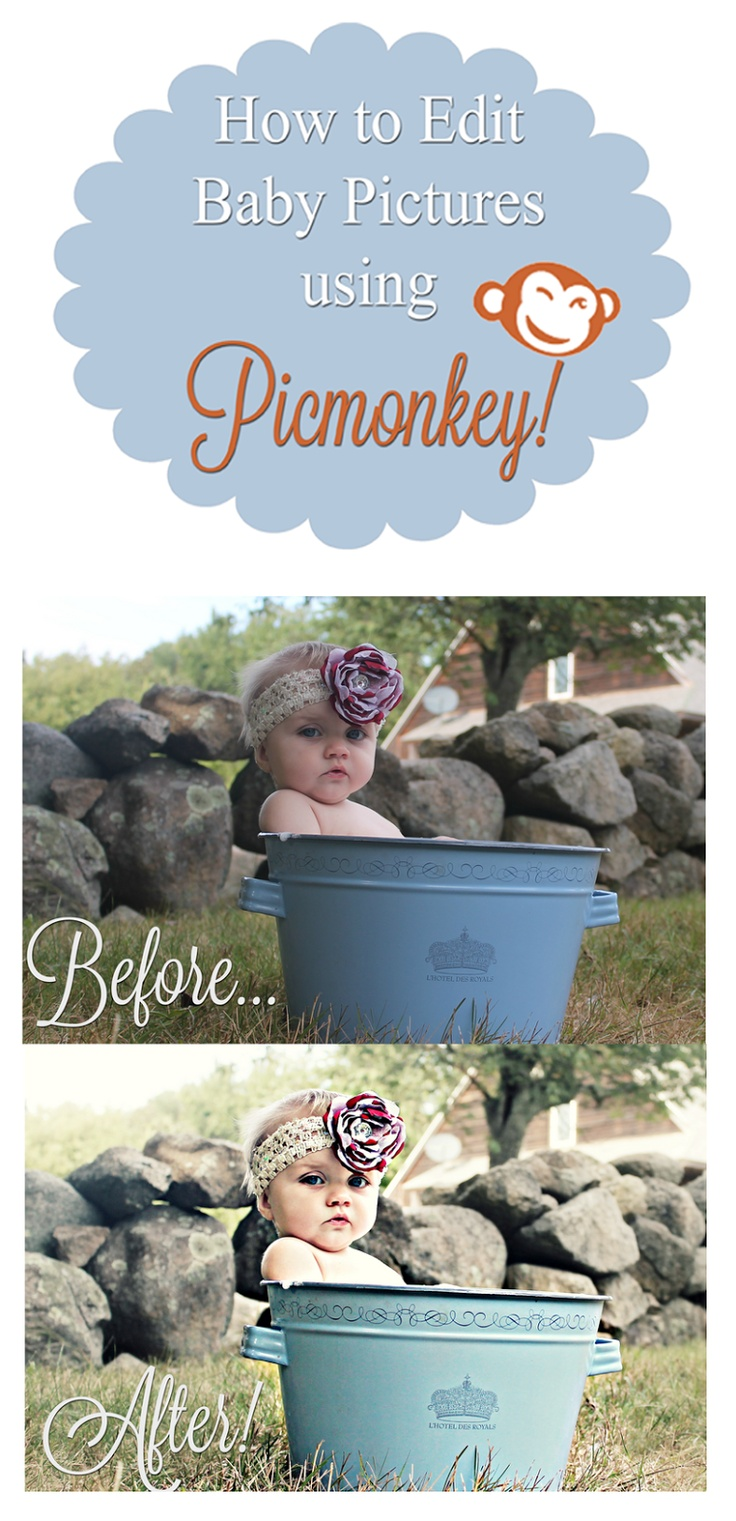 17 PicMonkey Tutorials - how to edit baby pictures using Picmonkey