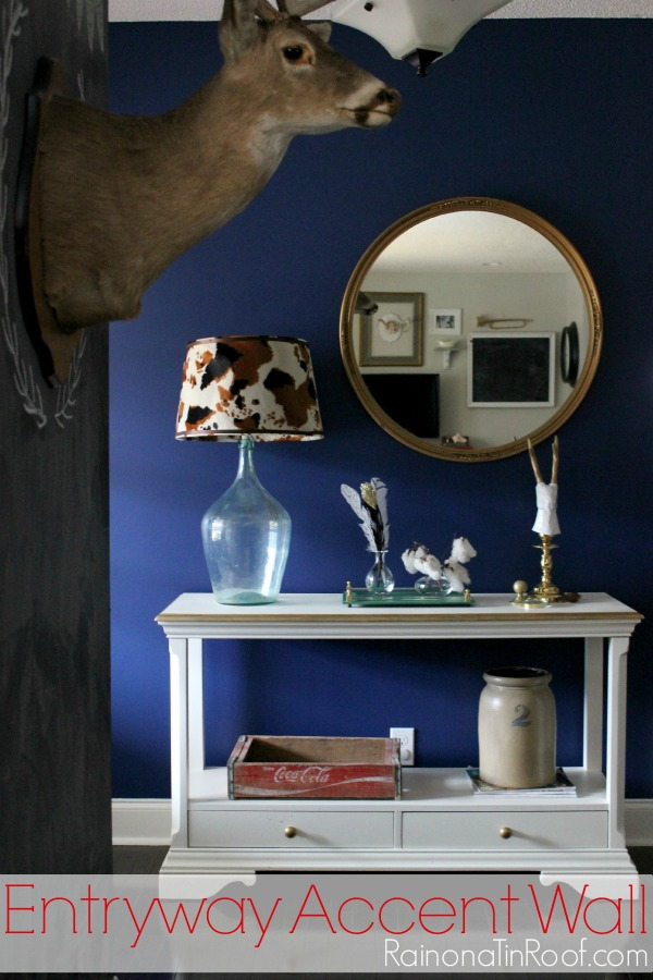 Accent Wall Rich Navy Entryway