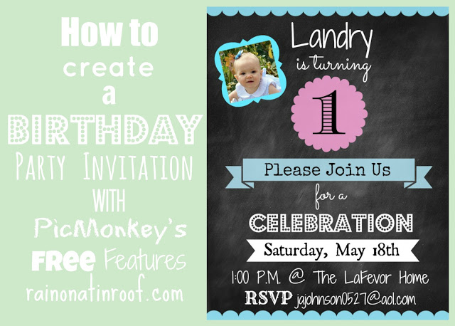 Picmonkey tutorials for making party invitations