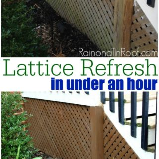 How to Stain Wood or Lattice the Easy Way {Lattice Refresh}