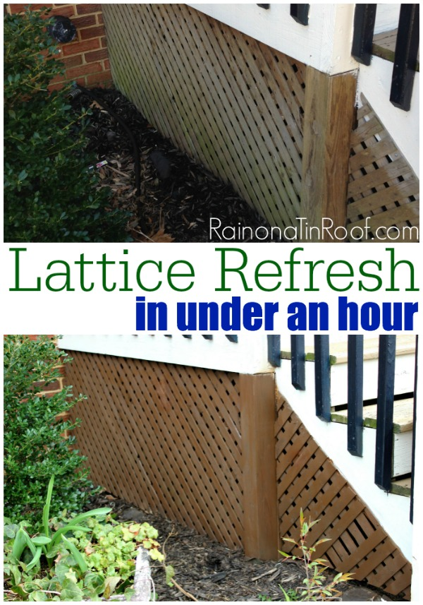 How to Stain Wood Outdoors | How to Stain Lattice | Lattice Ideas | How to Clean Lattice