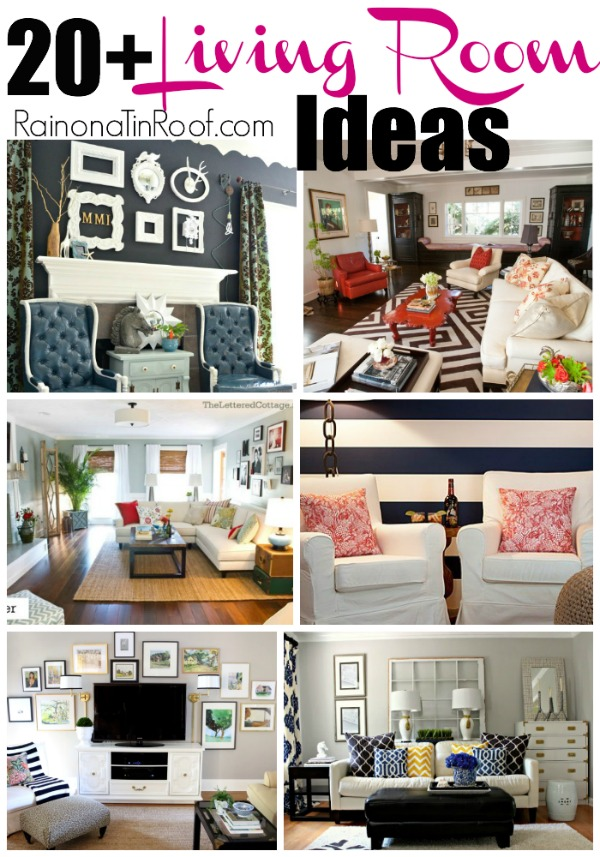 20+ Living Room Ideas via RainonaTinRoof.com #livingroom