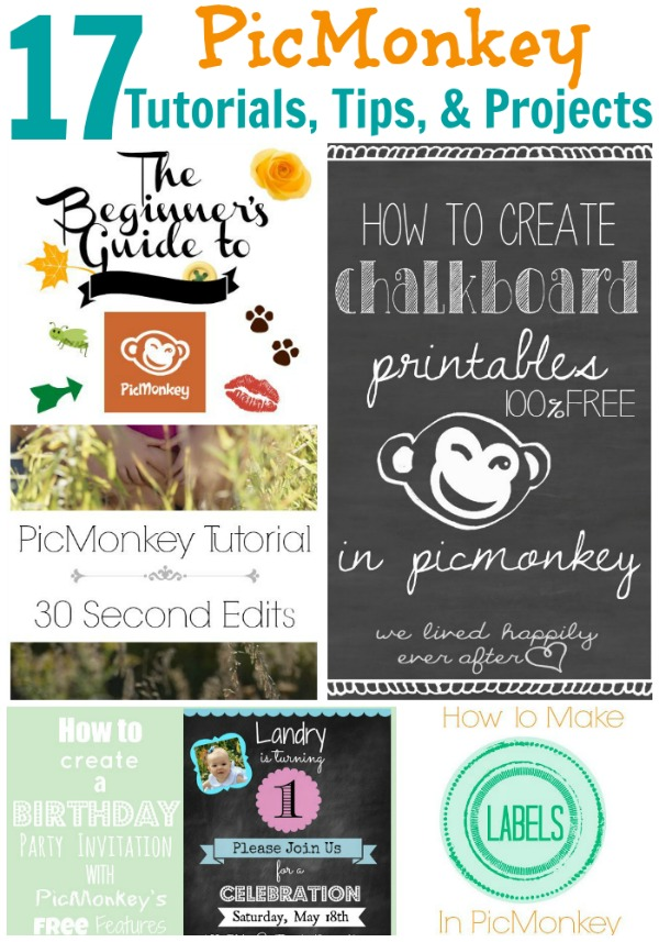 17 PicMonkey Tutorials, Tips, and Projects via RainonaTinRoof.com #picmonkey #tips #tutorials #projects